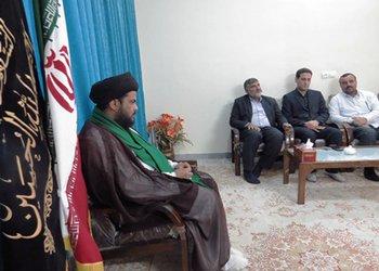 دیدار شهردار ، اعضای شورای شهر و پرسنل شهرداری با امام جمعه مهران