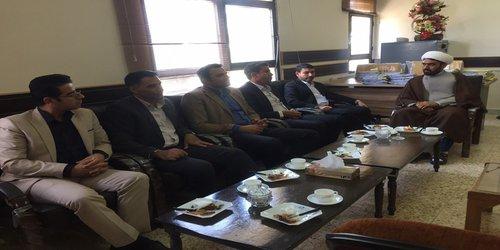 دیدار شهردار و پرسنل شهرداری با ریاست دادگستری و دادستان نهبندان