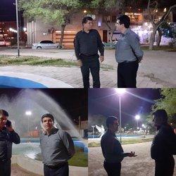 بازدید شبانه شهردار خرمشهر از پارک های سطح شهر