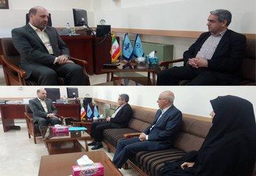 دیدار مدیرعامل شرکت آب منطقه ای با مدیرکل صدا و سیمای مرکز زنجان