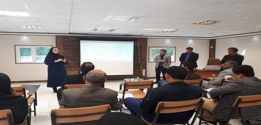 برگزاری کارگاه آموزشی سامانه یکپارچه حفاظت و بهره برداری منابع آب و امور مشترکین ( ساماب) در شرکت بهره برداری از شبکه های آبیاری کرخه و شاوور