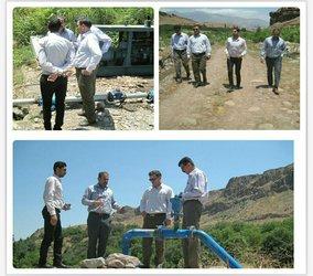 بازدید مدیر عامل شرکت آب و فاضلاب استان قزوین از پروژه های تامین آب آشامیدنی روستاهای منطقه طارم