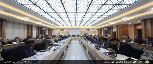 هفتمین جلسه قرارگاه بازسازی و نوسازی مناطق سیل زده خوزستان باحضور معاون وزیر  کشور