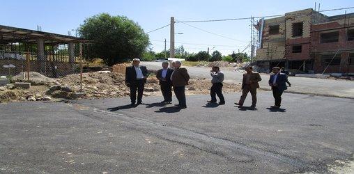 بازدید میدانی فرماندار محترم شهرستان نیر باحضور شهردار نیر از پروژه آسفالت ریزی معابر شهر نیر