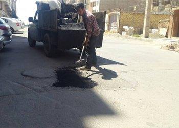 عملیات مرمت و لکهگیری معابر ناحیه شهید بابایی ۲۰ درصد پیشرفت فیزیکی دارد