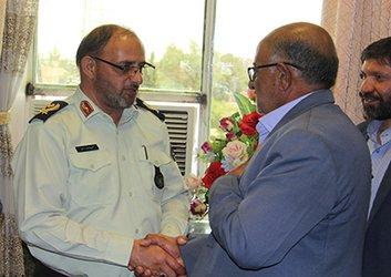 دیدار اعضاء شورای شهر  سیرجان با فرمانده ناحیه انتظامی  استان کرمان