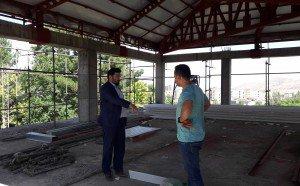 بازدید ابراهیمی فر از پروژه تکمیل ساختمان شهرداری