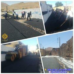 عملیات زیر سازی و آسفالت خیابان سلمان فارسی ( محله لاج )