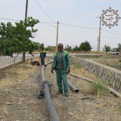 لوله گذاری و جمع آوری آبهای سطحی در مسیر باغراه توسط شهرداری