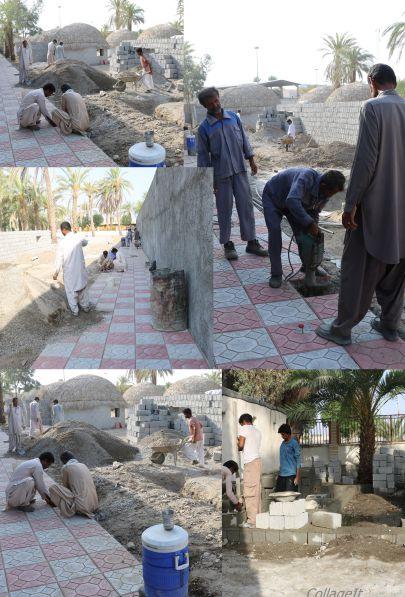 در ادامه فعالیت های عمرانی شهرداری ایرانشهر - ادامه عملیات بهسازی پارک بعثت  جهت تبدیل کاربری به پارک خانواده