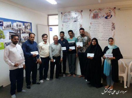 اهدای جوایز  مراسم  روز   علی اباد کتول در