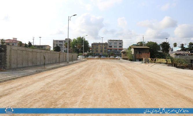 روند پیشرفت احداث خیابان جانباز شهید آملی