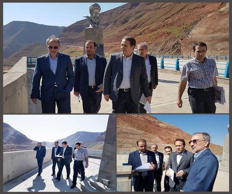 بازدید معاون آب و آبفای وزارت نیرو از سد شهید مدنی تبریز