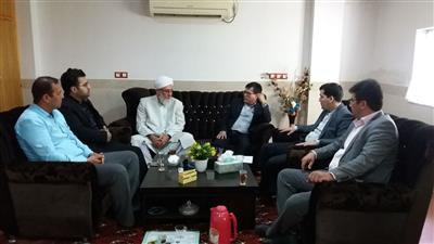 دیدارمدیرامور آبفار  شهرستان كلاله با امام جمعه شهر فراغی