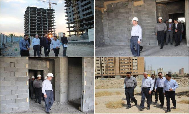 بازدید معاون امور مسکن شهری بنیاد مسکن کشور از پروژه 270 واحدی افق شهرک امام خمینی (ره)