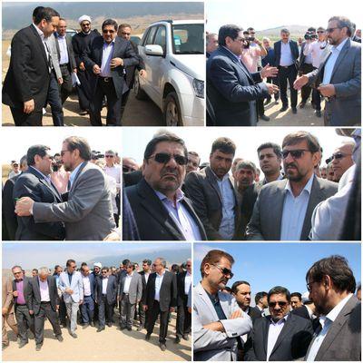 بازدید رئیس بنیاد مسکن انقلاب اسلامی از رانش زمین در روستای حسین آباد کالپوش
