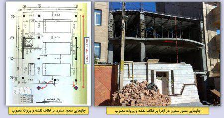 بخش هفتم اهم ایرادات عمومی ساختمانهای در حال احداث استان اردبیل
