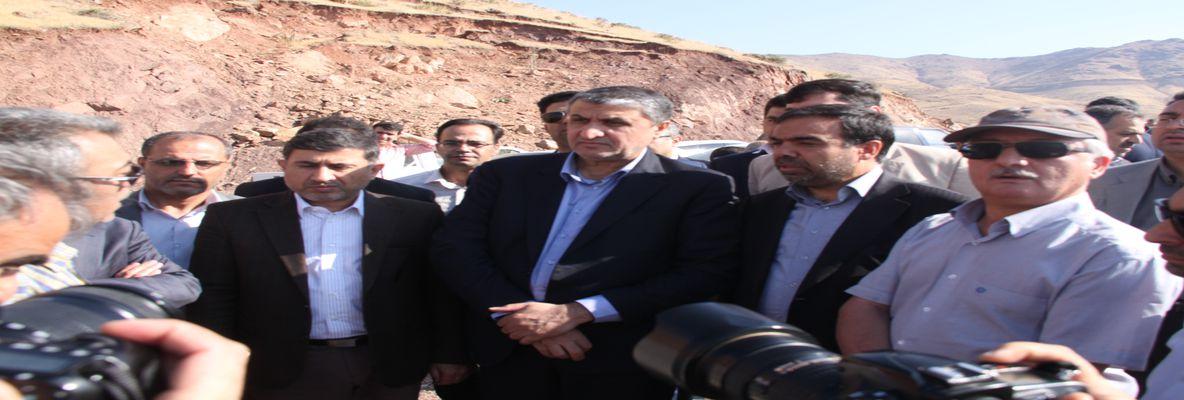 بازدید سرزده وزیر راه و شهرسازی از پروژه احداث جاده هشتگرد – طالقان