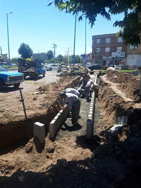شهردار خوی : اجرای 20000متر مربع پیاده رو سازی( سنگ فرش) طی 4 ماهه سال جاری