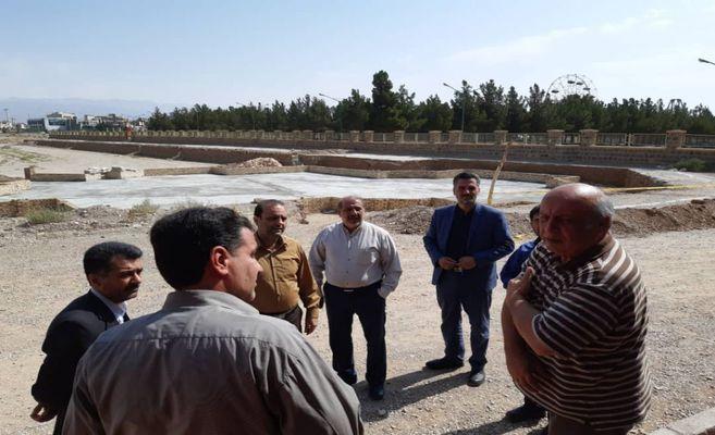 بازدید اعضای شورای اسلامی شهر از پروژه های فضای سبز