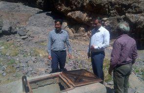 بازدید بخشدار مرکزی باخرز از تاسیسات آبرسانی روستای کردیان