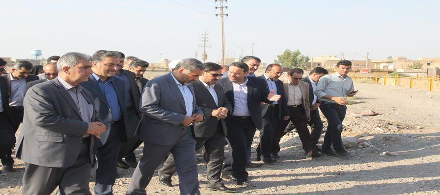 بازدید از پروژه احداث جاده کرند شهرستان گرمسار