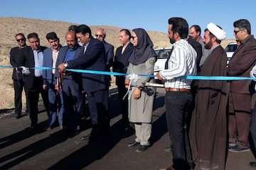 همزمان با هفته دولت راه روستایی خافکوئیه – تیرکمان در شهرستان بافت افتتاح شد