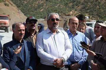 بازدید استاندار کردستان از پروژه سنندج - مریوان