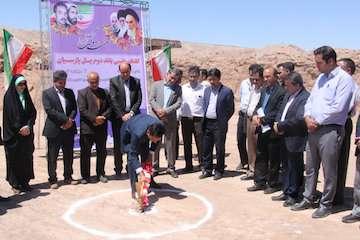 مراسم کلنگ زنی باند دوم پل پارسیان شهرستان زرند انجام شد