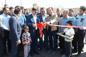 راه روستایی در شهرستان هریس در هفته دولت افتتاح شد