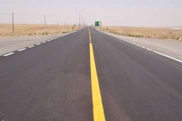 تجدید خطکشی ۵۷۳ کیلومتر از محورهای مواصلاتی استان اردبیل