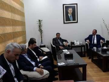 سفر وزیر راه و شهرسازی به سوریه برای شرکت در مراسم افتتاحیه شصت و یکمین نمایشگاه بین المللی / وزیر راه و شهرسازی با مقاماتعالی سوری دیدار و گفتوگو کرد