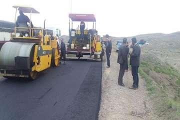 پروژه آسفالت راه روستایی قرهچاه در اسفراین بهرهبرداری شد