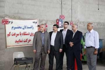 بازدید مدیرکل راهداری و حمل و نقل جادهای مازندران از مراکز معاینه فنی خودروهای سنگین
