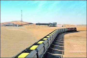 ۷۰۰ هزار تن بار جدید از معادن سنگان بر روی ریل آمد