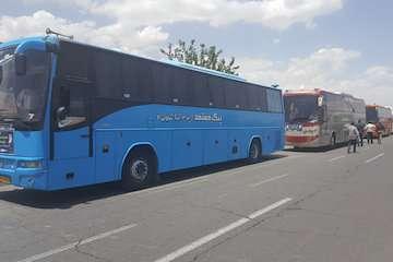 جابهجایی زائران اربعین حسینی استان اردبیل با ۴۰۰ دستگاه اتوبوس