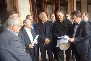 بازدید رییس کمیسیون بهداشت مجلس و  استاندار گیلان از بیمارستان ۴۰۰ تختوابی لاکان رشت