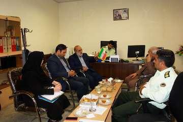 تعامل بیشتر بین یگان حفاظت زمین و مسکن راه و شهرسازی خراسان شمالی و نیروی انتظامی