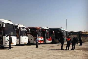 ۷۵ درصد ناوگان های اتوبوسی اردبیل در خدمت زائران ابا عبدالله الحسین(ع)