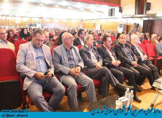 تجلیل از سالمندان به مناسبت روز جهانی سالمند با حضور اعضای شورای اسلامی شهر ساری  در سالن هلال احمر استان
