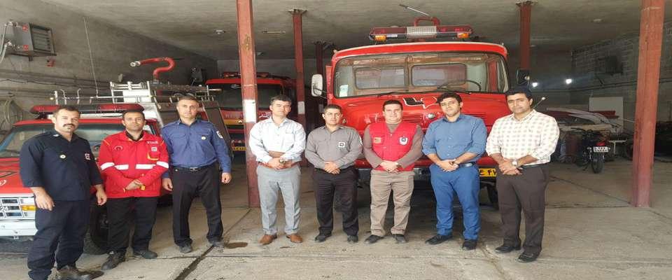 حضور مدیر دفتر نمایندگی سازمان نظام مهندسی ساختمان در شهرستان های استان در سازمان آتش نشانی و ایمنی شهرستان ها