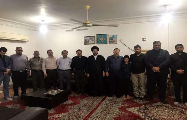 دیدار مدیرعامل شرکت بهره برداری از شبکه های آبیاری کرخه و شاوور با خانواده شهید مدافع حرم