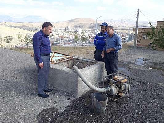 مخزن آب 2500 متر مکعبی شهر بازرگان شستشو گردید