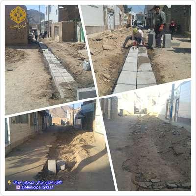 عملیات حفاری و کانیو گذاری خیابان شهاب 12