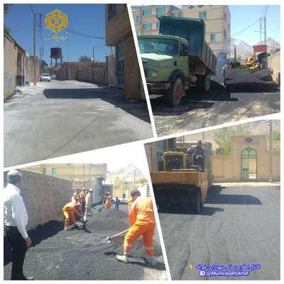 عملیات زیرسازی و آسفالت خیابان گوهرشاد ( حد فاصل آتش نشانی تا مسجد الاقصی )