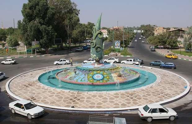 میدان سرداران شهید بم رونمایی شد