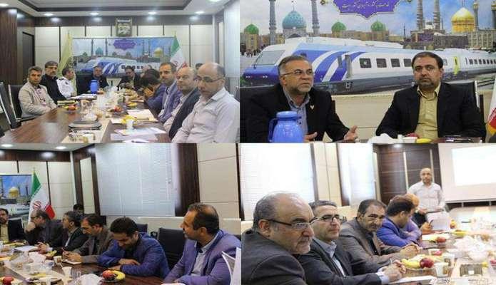 برگزاری چهارمین جلسه شورای هماهنگی راه و شهرسازی به میزبانی اداره کل راه آهن استان