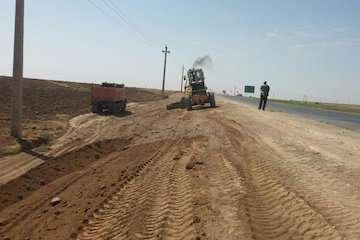 آغاز عملیات اجرایی بهسازی و روکش آسفالت راه روستایی جلیعه بنده در سوسنگرد