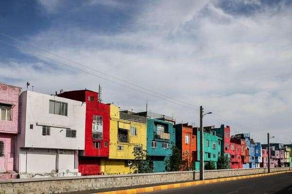 خانه های قزوین رنگی شدند