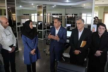 رییس سازمان فضایی ایران از سازمان هواشناسی بازدید کرد